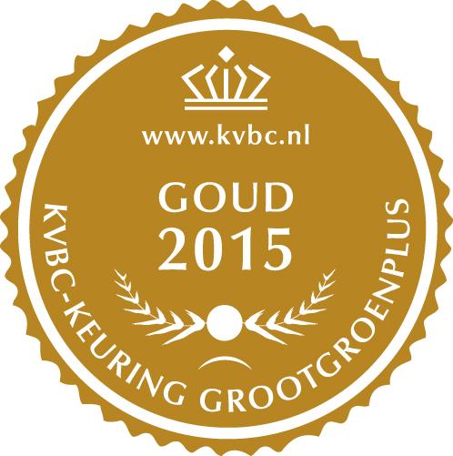 Goud GrootGroenPlus 2015