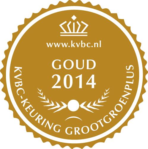 Goud GrootGroenPlus 2014