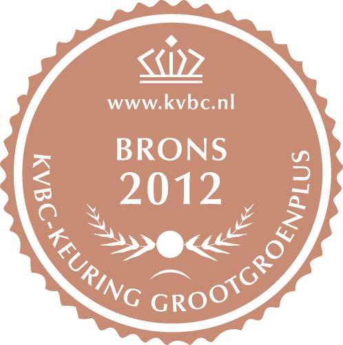 Brons GrootGroenPlus 2012