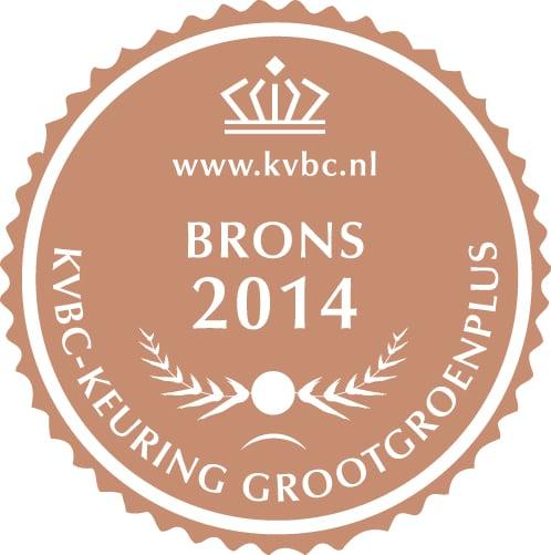 Brons GrootGroenPlus 2014
