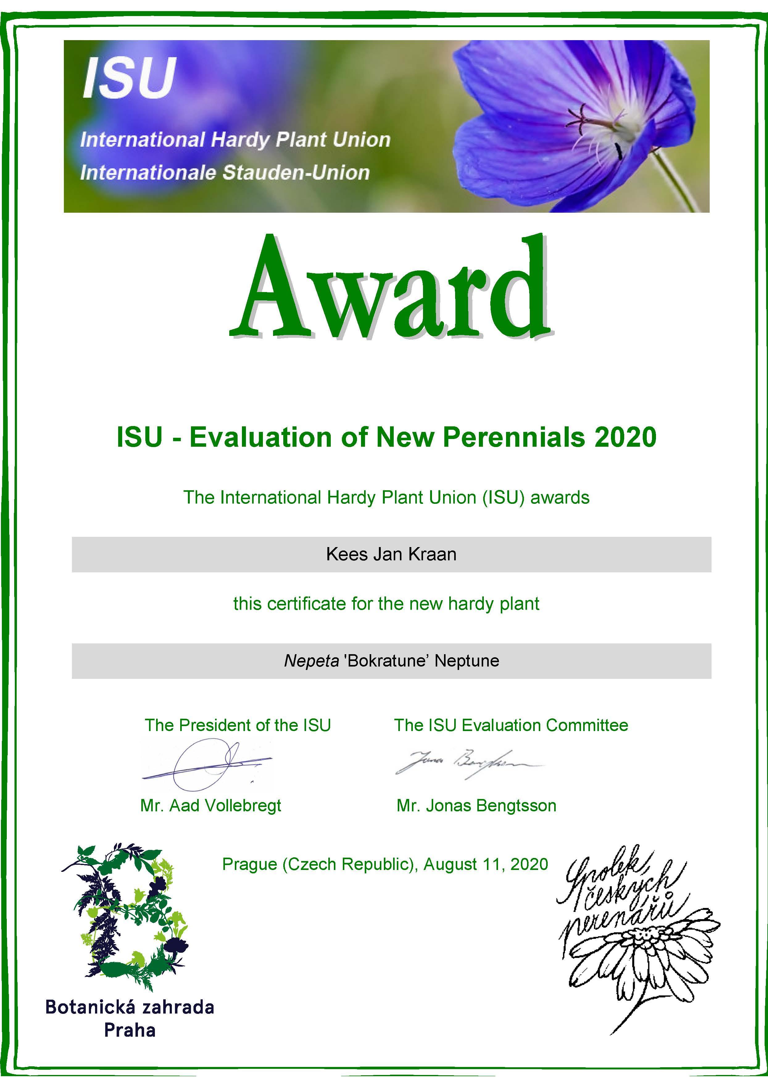 ISU Award 2020