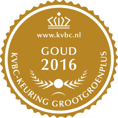 Goud GrootGroenPlus 2016