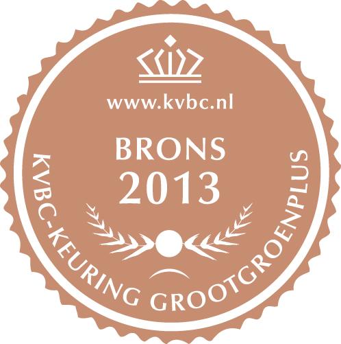 Brons GrootGroenPlus 2013